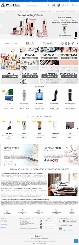 Darstellung einer gesamten Website