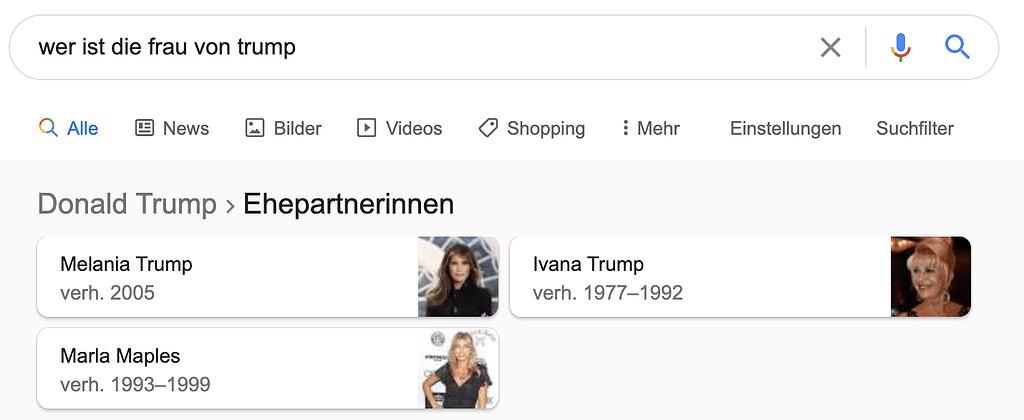 RankBrain am Beispiel Trump