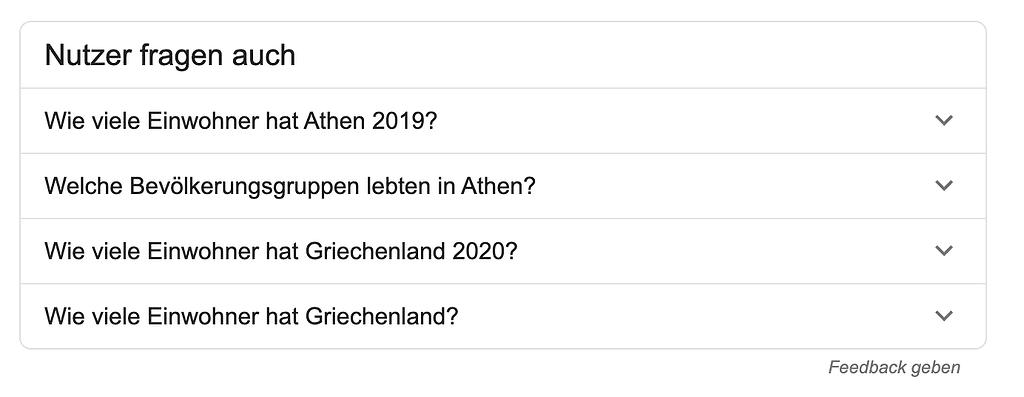 Google Nutzer fragen auch