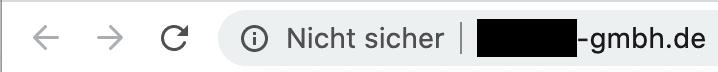 Ohne SSL in Chrome