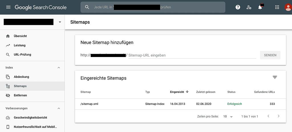 Sitemap in Search Console einreichen