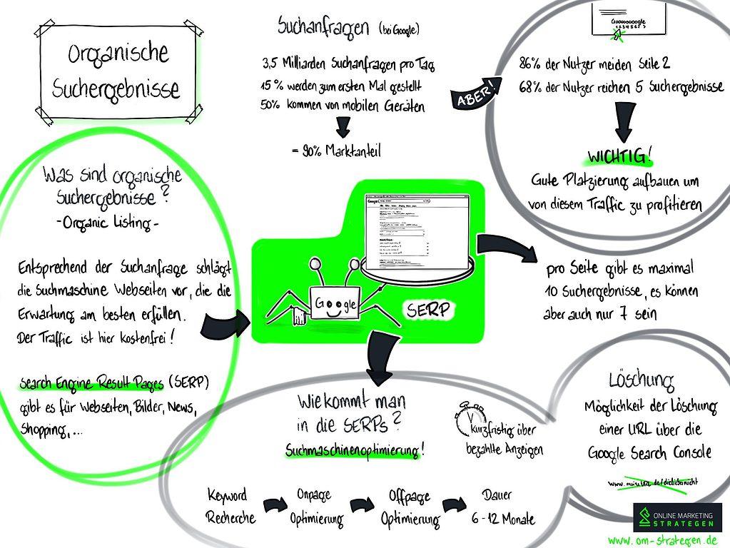 Infografik Organische Suchergebnisse